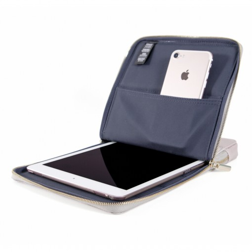 KMP Protective Sleeve iPad Grau Pink lady