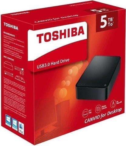 "TOSHIBA Canvio Desktop 5TB 3.5"" USB 3.0 extern schwarz"