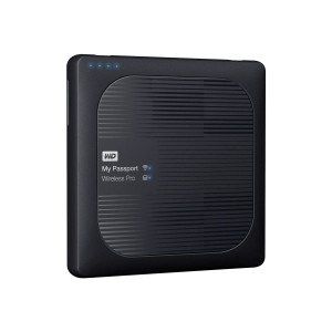 WD My Passport Wireless Pro 1TB WiFi AC HDD mobile wireless storage device USB3.0 SD-Card Slot 6,4cm 2,5Zoll external Retail