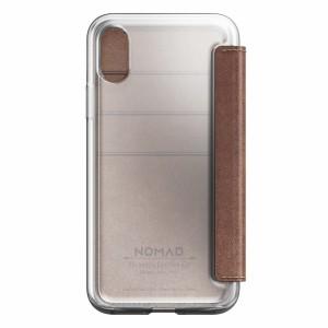 Nomad Clear Folio Rustic Brown für iPhone X
