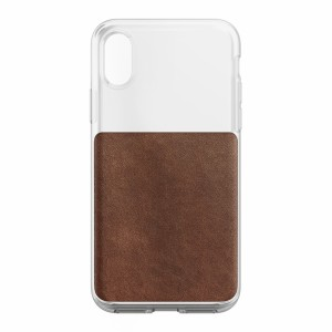 Nomad Clear Case Rustic Brown für iPhone X