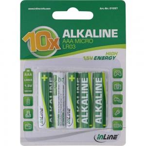 InLine® Alkaline High Energy Batterie, Micro (AAA), 10er Blister