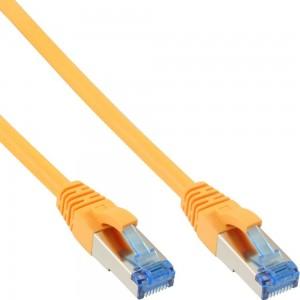InLine® Patchkabel, S/FTP (PiMf), Cat.6A, 500MHz, halogenfrei, Kupfer, gelb, 15m