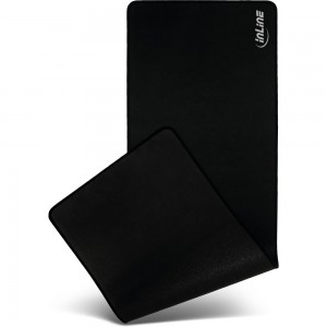 InLine® Maus-Pad XL Schreibtischunterlage, schwarz, 900x400x2mm