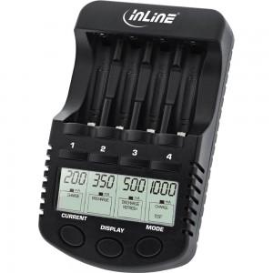 InLine® Premium Schnell-Ladegerät, NiCd+NiMH AA und AAA, bis 1000mA