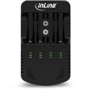 InLine® Ladegerät NiCd+NiMH, AA und AAA und 9V Block