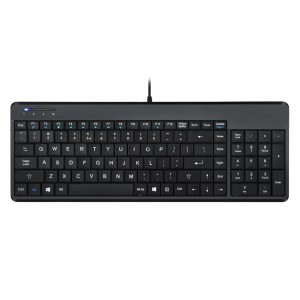 Perixx PERIBOARD-220 H, Wired Compact Tastatur, USB-Kabel, schwarz