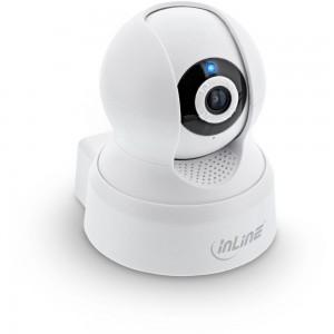 InLine® SmartHome Kamera innen, HD, Bewegungserkennung, Schwenk-/Neigbar