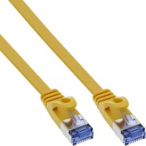 InLine® Patchkabel flach, U/FTP, Cat.6A, gelb, 10m
