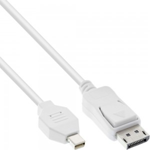 InLine® Mini DisplayPort zu DisplayPort Kabel, weiß, 3m