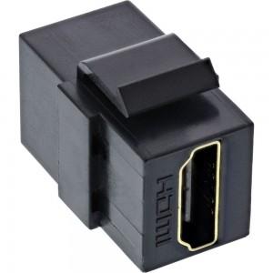InLine® HDMI Keystone Snap-In Einsatz 4K/60Hz, HDMI A Buchse/Buchse, schwarz