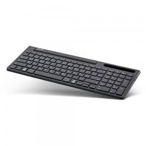 InLine® Bluetooth Aluminium Tastatur mit Nummernpad, für bis zu 4 Bluetooth-Geräte, schwarz