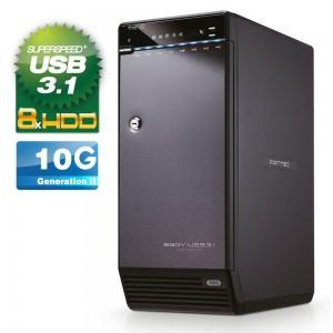 """FANTEC QB-X8U31 8x 3.5"""" HDD Festplattengehäuse USB 3.1"""