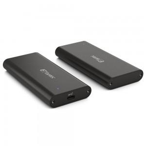 FANTEC NVMe31 SSD-Gehäuse USB 3.1 Gen. 2, schwarz