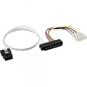 InLine® SAS Anschlusskabel, Mini-SAS SFF-8087 an 1x SAS SFF-8482 + Strom, einzene SAS HDD an Controller, 0,75m