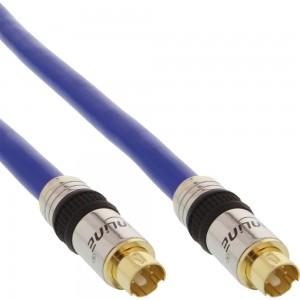 InLine® S-VHS Kabel, PREMIUM, vergoldete Stecker, 4pol mini DIN Stecker / Stecker, 7m