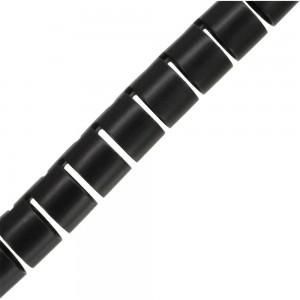 InLine® flexibeler Kabelkanal 10m, schwarz, 20mm