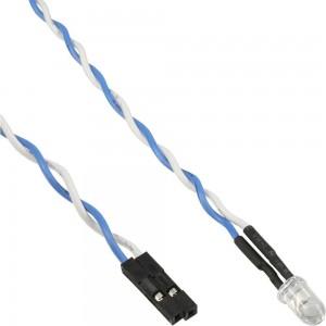InLine® HDD-LED / Power-LED für Mainboard-Anschluss, blau, 5mm, 0,8m