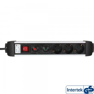 InLine® Steckdosenleiste, Alu, 3-fach Schutzkontakt, mit Überlast- und Überspannungsschutz, mit Schalter, 1,5m InLine® Schutzkontakt-Steckdosenleiste mit Überlast- und Überpannungsschutz Stecker: Schutzkontakt Anzahl Anschlüsse: 3 Kabel: H05VV-F3G1,5mm² E