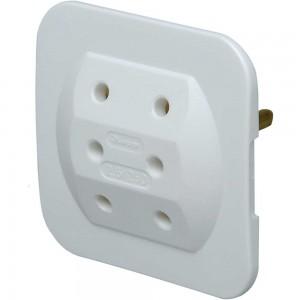 Kopp Euro 3-fach-Adapter, extra flach, weiß