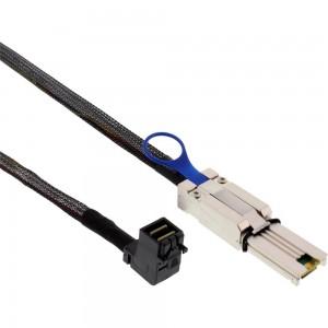 InLine® Mini SAS HD Kabel, SFF-8643 gewinkelt zu SFF-8088, 1m