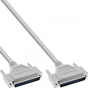 InLine® Serielles Kabel, 37pol Stecker / Stecker, 1:1 belegt, 3m