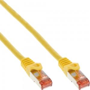 InLine® Patchkabel, S/FTP (PiMf), Cat.6, 250MHz, PVC, Kupfer, gelb, 0,5m