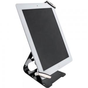 """InLine® Tablet Halter universell 7""""-10.1"""" mit Sicherheitsschloss 1,5m, mit Schlüssel"""