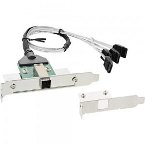 InLine® SAS HD Slotblech PCI + 50p Centr., mit Kabel, ext. SFF-8644 auf int. 4x SATA, 0,5m