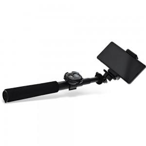 InLine® Selfiestick für Digitalkameras und Videokameras, schwarzes aluminium, mit Mini Stativ, 0,75m