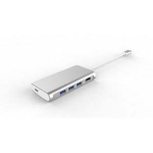 LMP USB-C Video Hub 5-Port silber