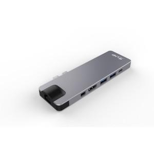 LMP USB-C Compact Dock 4K, 8 Port space grau