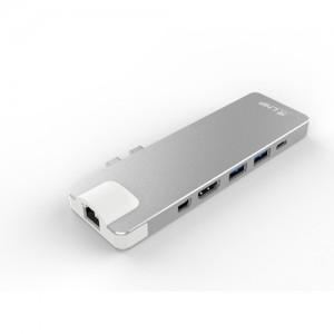 LMP USB-C Compact Dock 4K, 8 Port silber