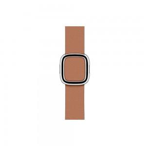 Apple modernes Lederarmband für Watch 40 mm (sattelbraun) S