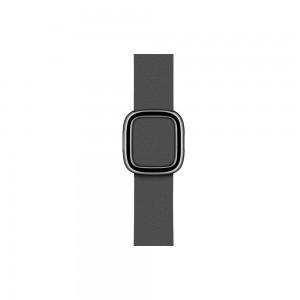 Apple modernes Lederarmband für Watch 40 mm (schwarz) L