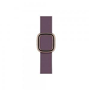 Apple modernes Lederarmband für Watch 40 mm (aubergine) S