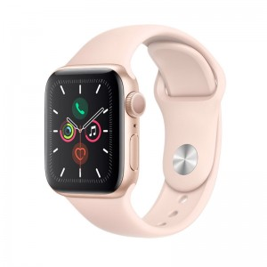 AppleWatch S5 Aluminium 40mm Gold (Sportarmband Sandrosa)