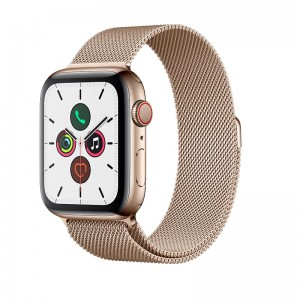 AppleWatch S5 Edelstahl 44mm Cellular Gold (Milanaise Gold)