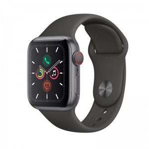 AppleWatch S5 Aluminium 40mm Cellular Spacegrau (Sportarmband schwarz)