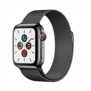 AppleWatch S5 Edelstahl 40mm Cellular Spaceblack (Milanaise spaceblack)
