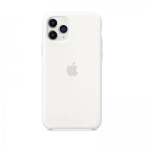 Apple Silikon Case iPhone 11 Pro (weiß)
