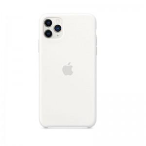 Apple Silikon Case iPhone 11 Pro Max (weiß)