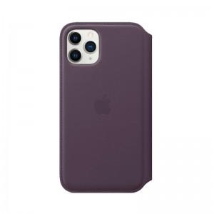 Apple Leder Folio iPhone 11 Pro (aubergine)