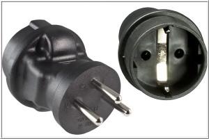 Stromadapter fŸr Israel YL-4823 ISR 3pin Stecker/CEE 7/3 Buchse