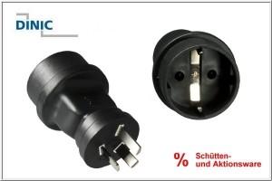 Stromadapter Australien CEE 7/7 auf AUS/China CEE 7/3 Buchse/AUS 3pin Stecker Typ I