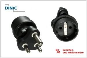 Stromadapter SŸdafrika/Indien CEE 7/3 auf Typ M CEE 7/3 Buchse/ZAF 3pin Typ M Stecker, YL-8023
