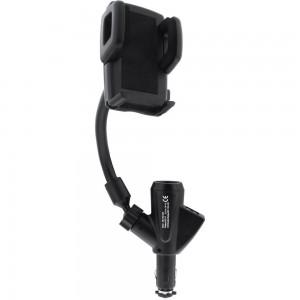 InLine® KFZ Smartphone / Handy Halterung mit Schwanenhals und 2x USB, universal