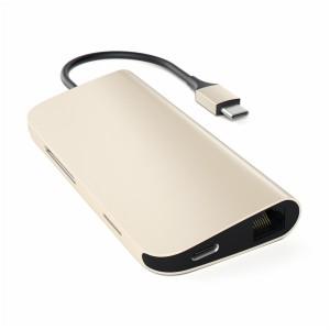 Satechi Type-C Multi-Port Adapter 4K Ethernet Gold