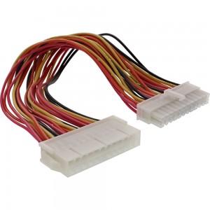InLine® Strom Verlängerung intern, 24pol ATX Stecker / Buchse, Netzteil zu Mainboard, 0,2m