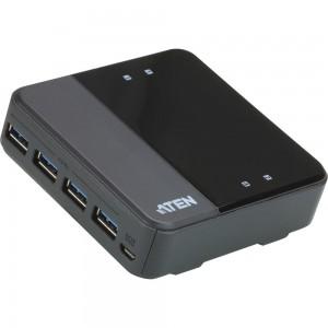 ATEN US3344 USB 3.1 Gen1 Switch, 4-Port Umschalter zur Peripherie Freigabe